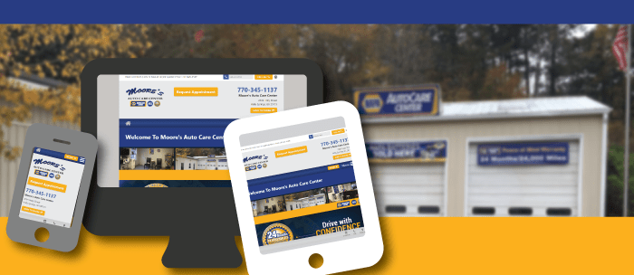 Moore's Auto Care Center New Website